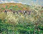 Camille Pissarro: Virágzó szilvafák (1879) (id: 2957) vászonkép óra