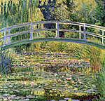 Paul Cézanne: A japán híd Givernyben (1899) (id: 3857) falikép keretezve