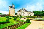 Chateau de Chenonceau Unesco középkori francia vár és medence ga (id: 5157) bögre