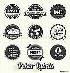 Vector Set: Retro Poker címkék és ikonok (id: 6057) tapéta
