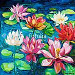 Water Lily (id: 13358) vászonkép óra