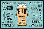 Poster or banner with text Beer Makes Everything Better and name (id: 13658)
