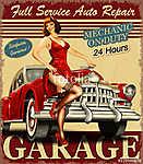 Vintage garage retro poster (id: 19158)