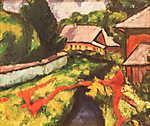 Tihanyi Lajos: Falusi látkép (id: 19258) vászonkép