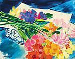 Vaszary János: Virág csendélet (id: 19858) vászonkép