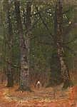Mednyánszky László: Ember a fák között (id: 19958) poszter