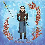 Nevesincs Leány (Arya Stark) (id: 20258) falikép keretezve