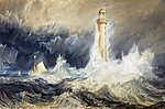 William Turner: A Bell Rock világítótorony (színverzió 1.) (id: 20358) vászonkép óra