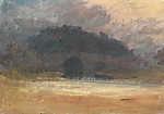 William Turner: Esti táj a Yorkshire-i kastéllyal és híddal (id: 20458) falikép keretezve