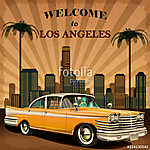 Welcome to Los Angeles retro poster. (id: 19159) tapéta