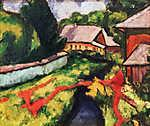 Tihanyi Lajos: Falusi látkép (színverzió 1.) (id: 19259)