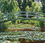 Claude Monet: A japán híd Givernyben (1899) (id: 3859) vászonkép óra