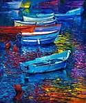 Boats (id: 4259) többrészes vászonkép