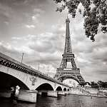 Eiffel-torony kilátás a Seine-folyó téren (id: 5059) falikép keretezve