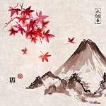 Négy évszakot tartalmazó kompozíciók készlete. Sakura ág, ba (id: 10560) vászonkép óra
