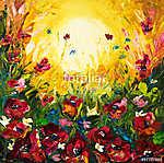 Flower fields (id: 13360) többrészes vászonkép