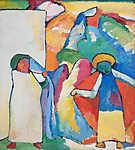 Vaszilij Kandinszkij: Improvizáció 6 (Afrika) (id: 19460) többrészes vászonkép
