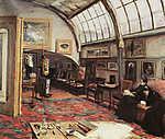 Max Liebermann: Festőművész műterme (1902) (id: 19660) vászonkép óra