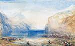 William Turner: Reggen Flüelenben (színverzió 1) (id: 20460) vászonkép