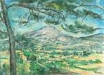 Edward Cucuel: Montagne Sainte-Victoire látképe (id: 21260) vászonkép óra