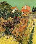 Vincent Van Gogh: Kiskert a ház mögött (id: 360) többrészes vászonkép