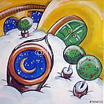 A Hold a kútban (id: 5360) falikép keretezve