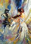 James Tissot: A lány hegedülni kezd (id: 5460) vászonkép