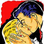 Pop art, szerelmes csók (id: 5560) tapéta