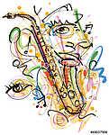 Zenei művészet vázlata (id: 10361) falikép keretezve