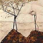 Edgar Degas: Őszi napsütés fákkal (id: 1061) vászonkép