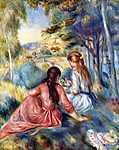 Paul Gauguin: Fiatal lányok a réten (id: 1461) falikép keretezve