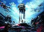Star Wars: Battlefront I. videojáték téma (id: 16261) vászonkép óra