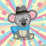 Koala with hat (id: 18961) többrészes vászonkép