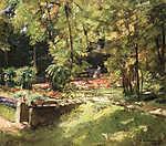 Max Liebermann: Kastélykert (1919) (id: 19661) falikép keretezve