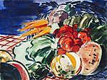 Vaszary János: Dinnyés csendélet (1938) (id: 19861) falikép keretezve