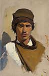 Mednyánszky László: Fiatal roma portréja (id: 19961) poszter