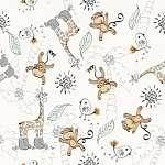 Majmocskás tapétaminta (id: 21461) falikép keretezve