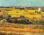 Paul Cézanne: Aratás La Craua-ban háttérben a Montmajour (id: 361) poszter