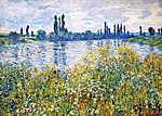 Vincent Van Gogh: Virágok a Szajna- parton, Vetheuil közelében (id: 3861) tapéta