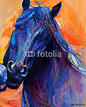 Kék ló (id: 4361) poszter