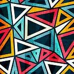 Paul Klee: retro háromszög varrat nélküli mintázat (id: 11062) poszter