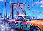 Yellow cab. Brooklyn bridge (id: 15462)