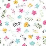 Bájos kisvirágok tapétaminta (id: 21862) poszter