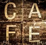 Cafe jel a barna texturált háttér (id: 5062) poszter