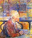 Henri de Toulouse Lautrec: Van Gogh portréja (id: 1163) vászonkép óra