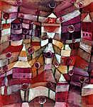 Paul Klee: Rószakert (id: 12063) többrészes vászonkép