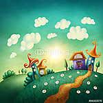 Fantáziás falu (id: 12263) vászonkép