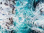 Hullámoktól fodrozódó tenger (légifelvétel) (id: 12663) vászonkép óra