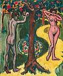 Georges Seurat: Ádám és Éva (1907) (id: 13763) vászonkép