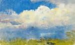 Tavaszi égbolt (tanulmány, részlet) (id: 20063) vászonkép